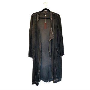 XCVI Charcoal Kimono Wrap Size M